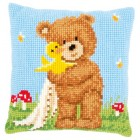 Cross stitch cushion kit Popcorn&Soufflé the duck