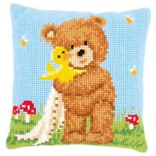 Cross stitch cushion kit Popcorn&Soufflé the duck