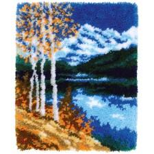 Latch hook rug kit Birches