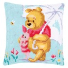 Cross stitch cushion kit Disney Winnie in the rain