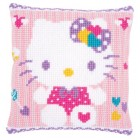Cross stitch cushion kit Hello Kitty pastel