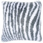 Latch hook cushion kit Zebra print