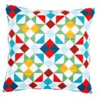 Long stitch cushion kit Rhombuses