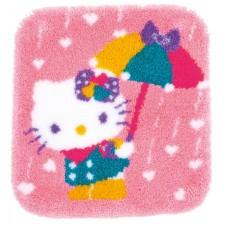 Latch hook shaped rug kit HK A shower of hearts
