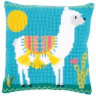 Cross stitch cushion kit Llama
