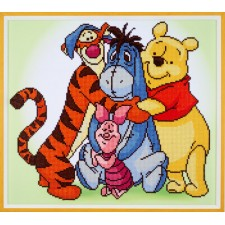 Diamond painting kit Disney Pooh with friends