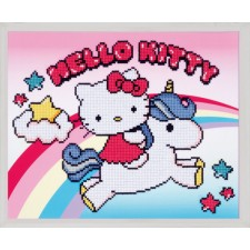 Diamond painting kit Hello Kitty with unicorn