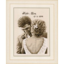 Counted cross stitch kit Wedding happiness