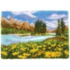 Latch hook rug kit Mountain landscape