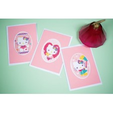 Greeting card kit Hello Kitty Pastels set of 3
