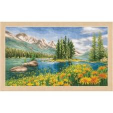 Counted cross stitch kit Mountain landscape