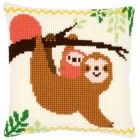 Cross stitch cushion kit Sloth
