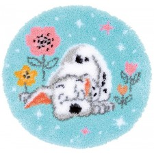 Latch hook shaped rug kit Disney Little Dalmatian