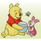 Diamond painting kit Disney Pooh with Piglet