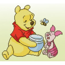 Diamond painting kit Disney Pooh with Piglet