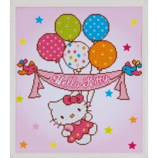 Diamond painting kit Hello Kitty with balloons