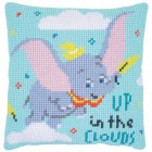 Cross stitch cushion kit Disney Dumbo up in clouds