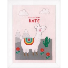 Counted cross stitch kit Lovely llama