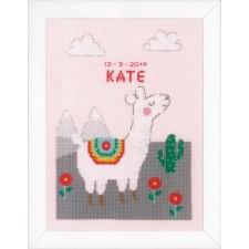Counted cross stitch kit Lovely llama