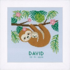 Counted cross stitch kit Sweet sloth