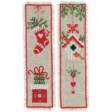 Bookmark kit Christmas motif set of 2