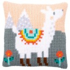 Cross stitch cushion kit Lovely llama