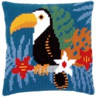 Cross stitch cushion kit Toucan
