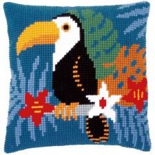 Cross stitch cushion kit Toucan