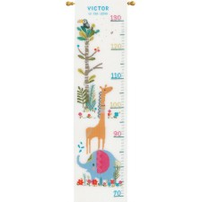Counted cross stitch kit Jungle animal fun