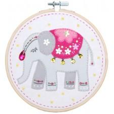 Craft kit with felt Elephant