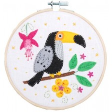 Craft kit with felt Toucan