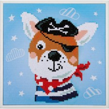Diamond painting kit Pirate dog