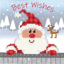 Diamond painting greeting card kit Santa