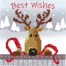 Diamond painting greeting card kit Reindeer
