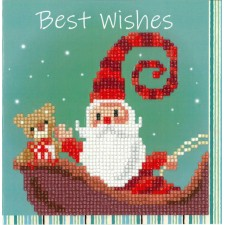 Diamond painting greeting card kit Happy santa
