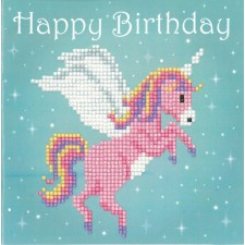 Diamond painting greeting card kit Unicorn