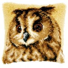 Latch hook cushion kit Brown owl