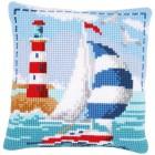 Cross stitch cushion kit Lighthouse