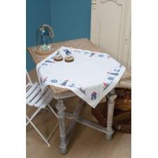 Aida tablecloth kit Maritime design