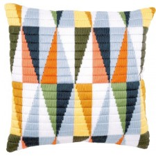 Long stitch cushion kit Triangles