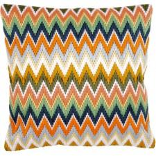 Long stitch cushion kit Zigzag