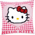 Cross stitch cushion kit Hello Kitty in a heart