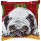 Cross stitch cushion kit Pug-dog