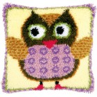Latch hook cushion kit Miss owl