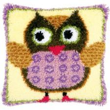 Latch hook cushion kit Miss owl
