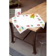 (OP=OP) Aida tablecloth kit Colourful apples