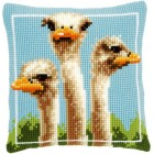 (OP=OP) Cross stitch cushion kit Ostriches