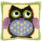 Latch hook cushion kit Mr. owl