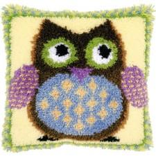 Latch hook cushion kit Mr. owl