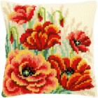 Cross stitch cushion kit Poppies II